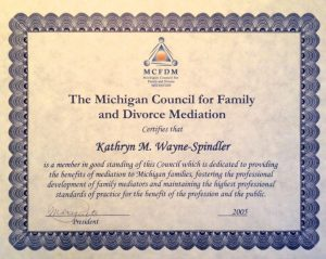 Family and Divorce Mediation certificate