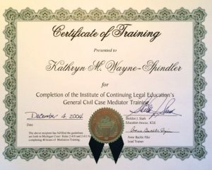 Civil Case Mediator Training Certificate