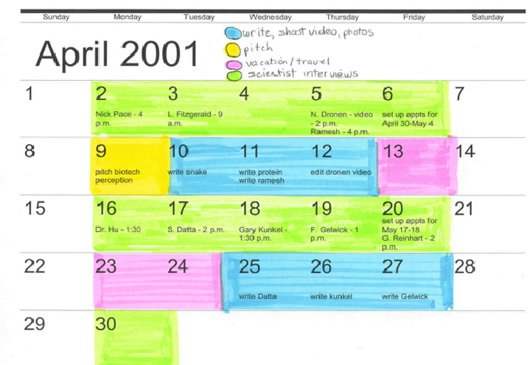 how to make a color coded schedule