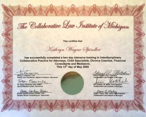 Collaborative Law Institute Certificate