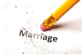 annulment - pencil erasing the word marriage