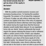 Ask an attorney - post-divorce home equity