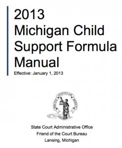 Michigan Child Support Formula Manual