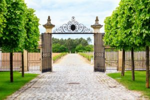 gates open at an estate - estate planning