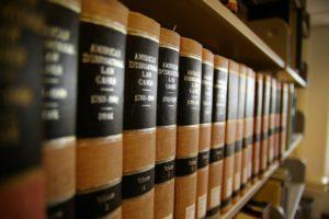 Legal Service Books on a shelf