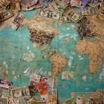 map with money on it showcasing international child support